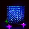 SMC 3D 888 Cube 8*8*8 Cubo de Luz DIY color dual electrónica LED fog lamp KIT de Piezas (rojo y azul)