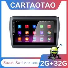 2G + 32G 9 #8243 2din Android 8 1 GO Car DVD Player for Suzuki Swift 2017 2018 Car Radio GPS Navigation WIFI BT Player cheap cartaotao Double Din 4*50W 128G JPEG Aluminum alloy + ABS + capacitive touch screen 1024*600 1 6kg Bluetooth Built-in GPS