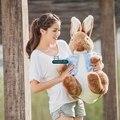 Дориа Trader 31 '' / 80см Гигантские Фаршированная Кролик Питер Кукла Мягкие плюшевые мультфильм Аниме игрушка кролик хороший подарок Бесплатная доставка DY61042