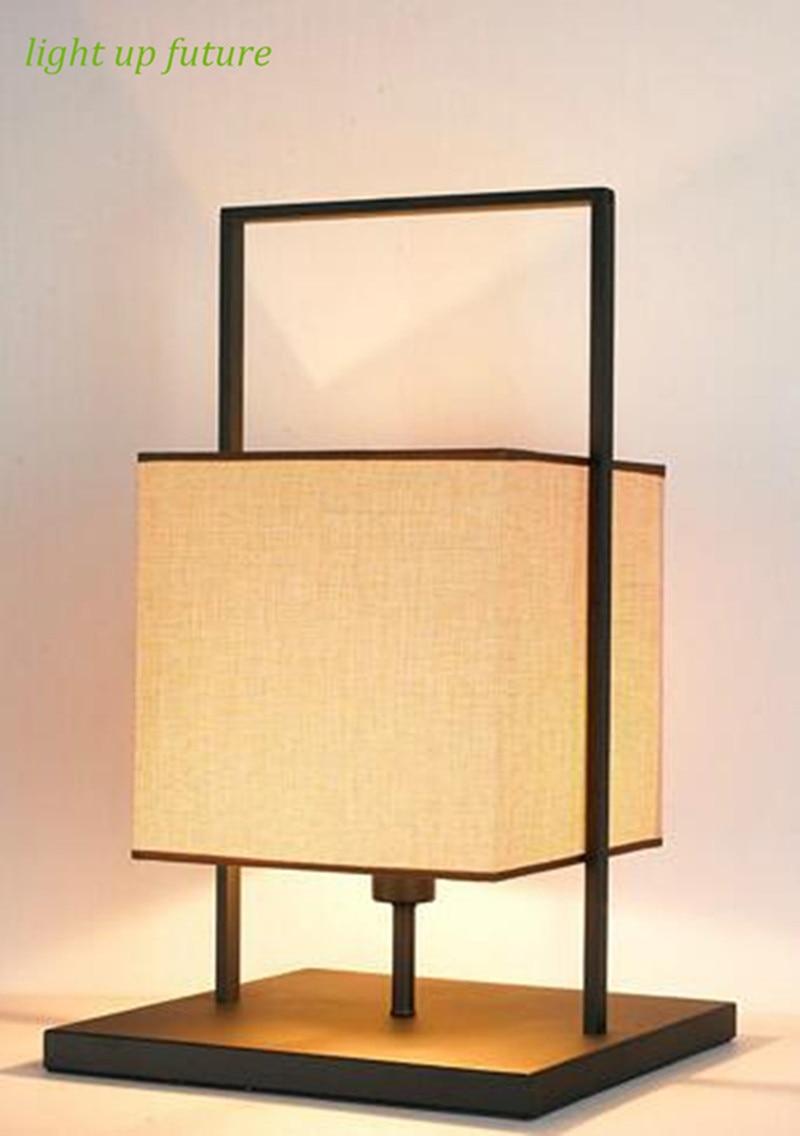 Neu kommen moderne kurze leinen lampenschirm schwarz basis led tischleuchte e27 ac90 260v nacht wohnzimmer