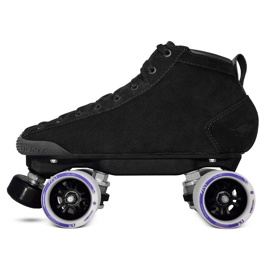 Bont d'origine Prostar S Double Patins à roulettes Heatmouldable Fiber De Verre Boot Base 4 Roue De Patinage Chaussures Patines T2