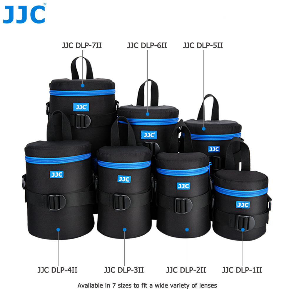 JJC Polyester Fibre Waterproof Camera DSLR Lens Pouch JBL Xtreme Bag Deluxe Soft Case with Belt for Canon Sony Nikon Olympus