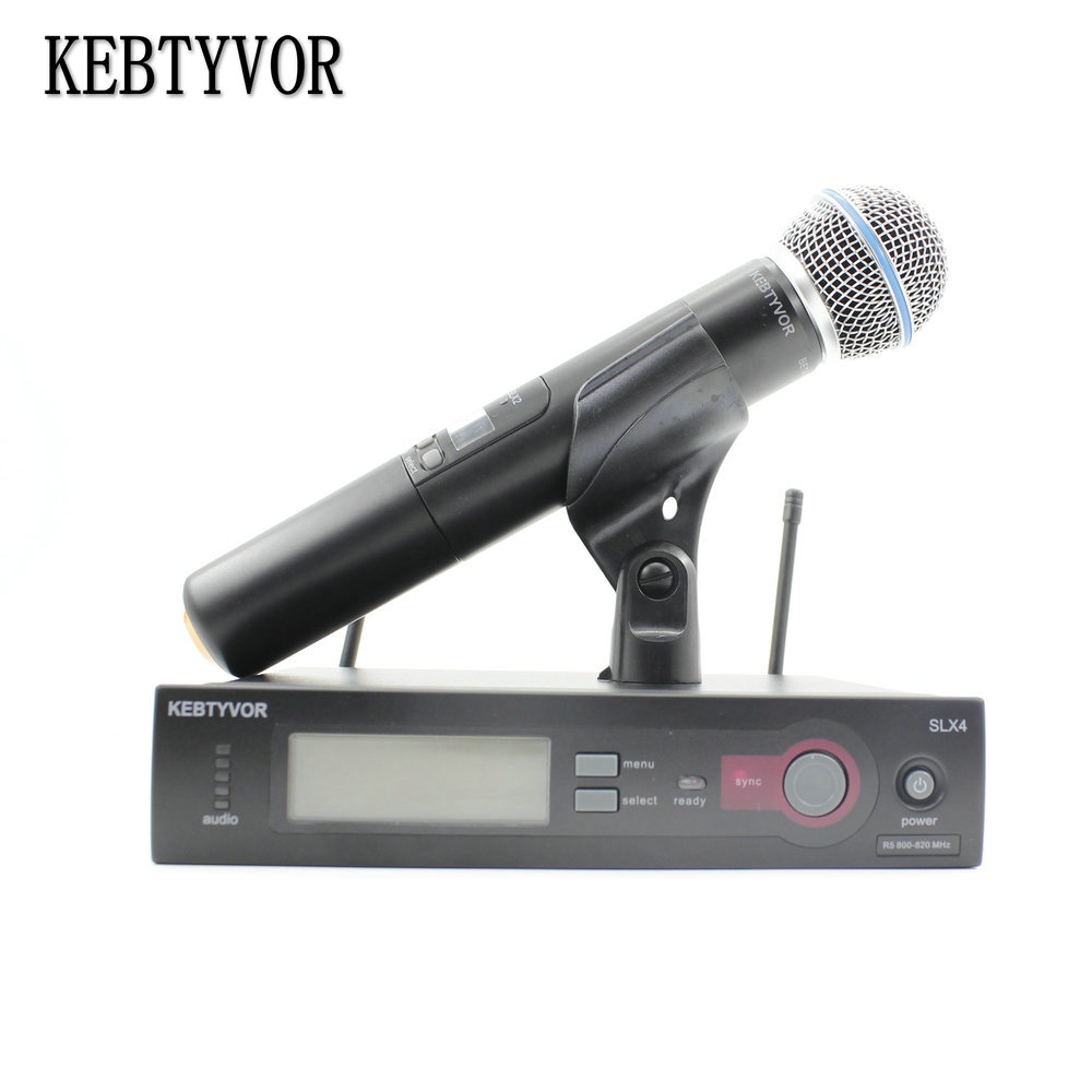 SLX24 BETA58 High Quality Single Handheld Wireless Microphone UHF Vocal Microfone System with 6 pin Handheld