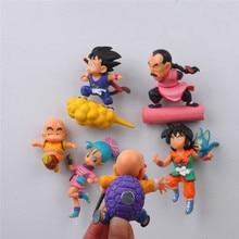 6 pcs/lot Dragon ball anime action figure fridge magnets figurine SON Goku ChiChi Oolong toys wukong Garage Kits Decora