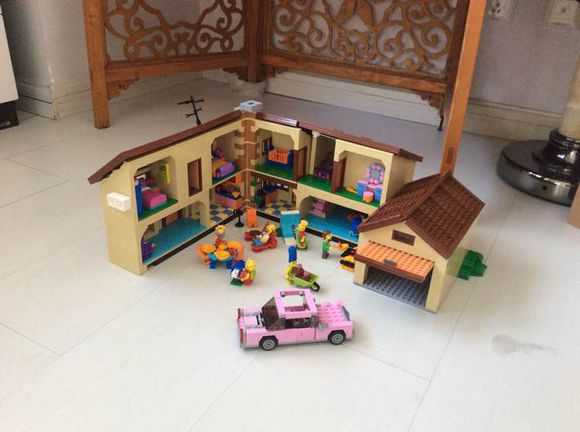 ФОТО 16005 2575Pcs the Simpsons House Model Building Block Bricks Compatible 71006 Boy gift bricks