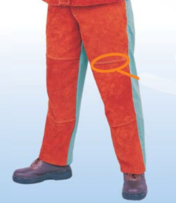 Welding Trousers Split Cow Leather Cow Welding Clothing FR Cotton Welding Pants one set leather welding strap trousers