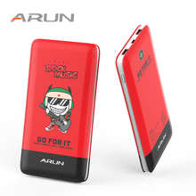 ARUN 10000mah Energy Financial institution J18-Q Crimson Cellular Charger Twin USB Exterior Battery With LED Indicator For Cellular Telephones and Pill PC
