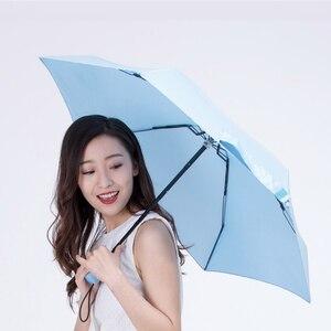 Image 5 - Youpin Umbracella Fiber Ultralight yağmurlu güneşli şemsiye güçlü rüzgar geçirmez şemsiye Ultra küçük taşınabilir şemsiye