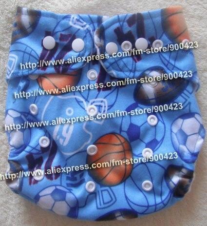 Акция настоящие Подгузники одежда в стиле унисекс подгузники оптом-моющиеся детские подгузники Подгузники 9 шт подгузники+ 9 шт вставки для 4-17 кг - Цвет: blue ball
