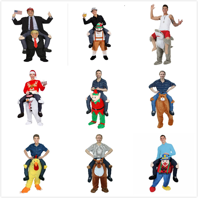 Funny Cosplay Donald trump Pants Halloween Party Costumes Horse Ride On Clothes Carry Back Novelty Mascot Outdoor Toys donald trump costume for adults inflatable funny costume holiday clothing ride on cosplay party carnival airblown clothing 10 23