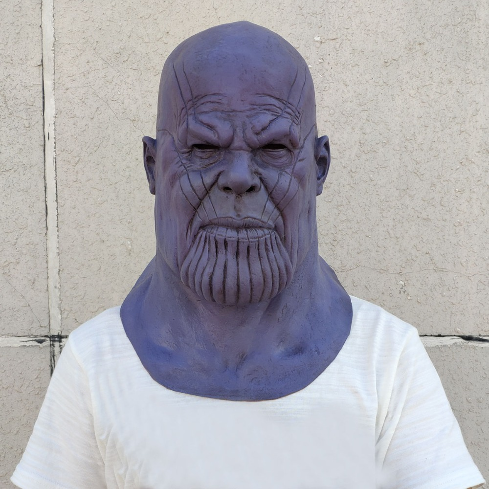 Deluxe Thanos Mask Infinity Gauntlet Avengers Infinity War Gloves Helmet Cosplay Thanos Masks Halloween Party Collection Props