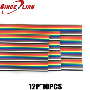 Image 1 - 10 Meters Rainbow Ribbon Cable Premium Standard 7*0.127mm 28AWG Pitch 12 Pins Flat  Wires Colorful Rainbow Ribbon Cable
