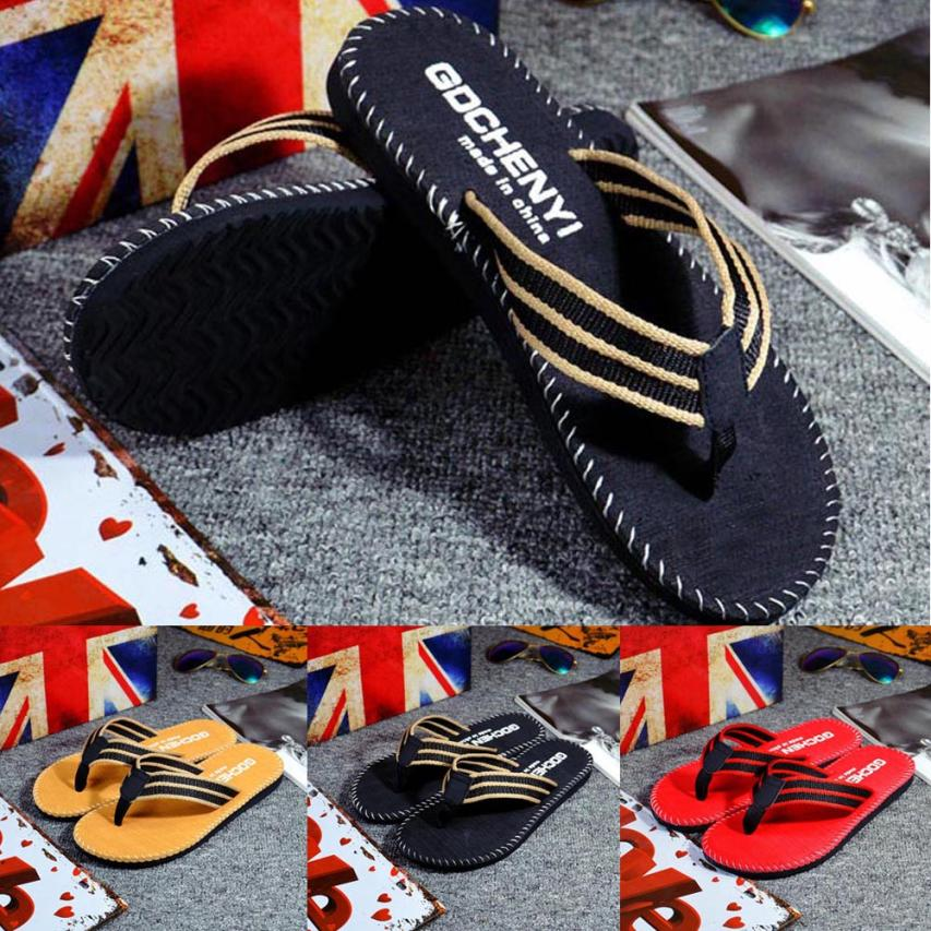 SAGACE shoes Flip-Flops high quality Men Summer Stripe Flip Flops Shoes Sandals Male Slipper Casual shoes men 2018MA11 sagace shoes men 2018 men summer englon antiskid flip flops shoes sandals male slipper flip flops apr11
