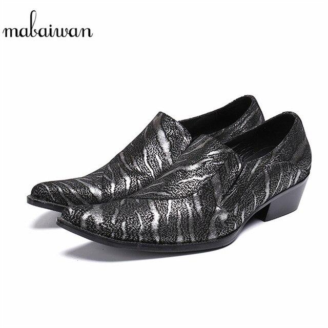 Mabaiwan 2018 Black Casual Men Shoes Indian Wedding Dress Shoes Men Slip On  Handmade Banquet Loafers ecb6b8389e06