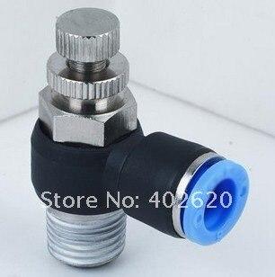 NSE6-02 6 мм 1/4 контроль скорости резьбы; пневматические фитинги, Пластиковые Фитинги, вставные фитинги, одно касание фитингов