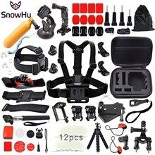 SnowHu for Gopro Accessories 56 in 1 Set kit Floating Bobber Tripod For Gopro Hero 5 4 3+2 xiaomi yi sjcam sport camera GS12
