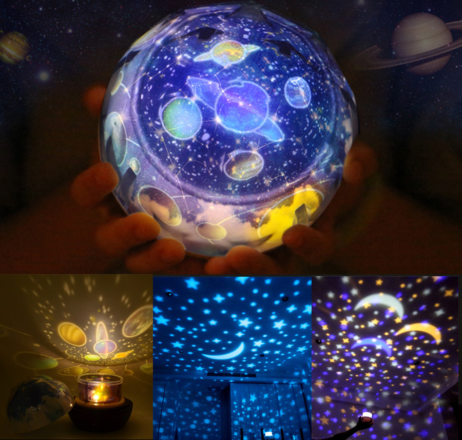 Rotating Universe Projector Planets Solar System Lamp Magic Starry Sky Projector Glow in the Dark Baby Sleeping Toy Home Decor