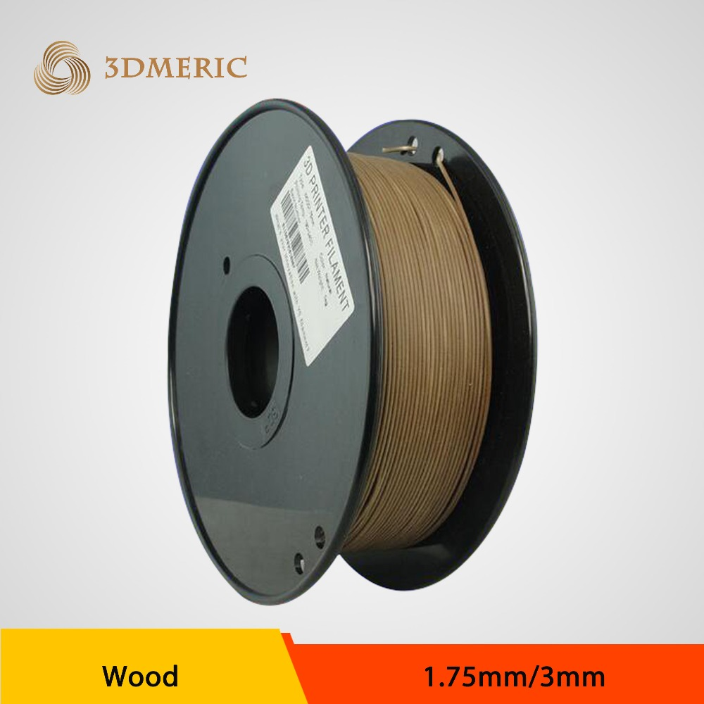 2016 New Wood Filament 3D Printer Material 3mm Wood Filament 3.0 Filament  Wood Filament 1KG flsun 3d printer big pulley kossel 3d printer with one roll filament sd card fast shipping
