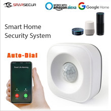 Wireless Smart Wifi Motion Sensor Detector Smart life app control compatible with alexa Home Security System(China)