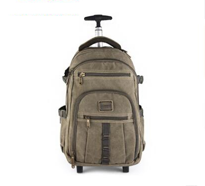 Men Cabin Rolling Luggage Bag With Wheels Canvas Trolley Bags Baggage  Bag Wheeled Backpack For Men Carry On Luggage Suitcase