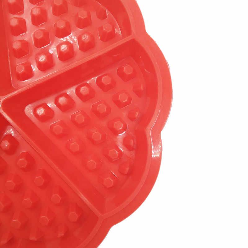 Hartvorm Siliconen Wafel Mold Pan Anti-aanbak Magnetron Voor Bakken Cake Bakvormen Keuken Koken Tool Mould Accessoires Benodigdheden