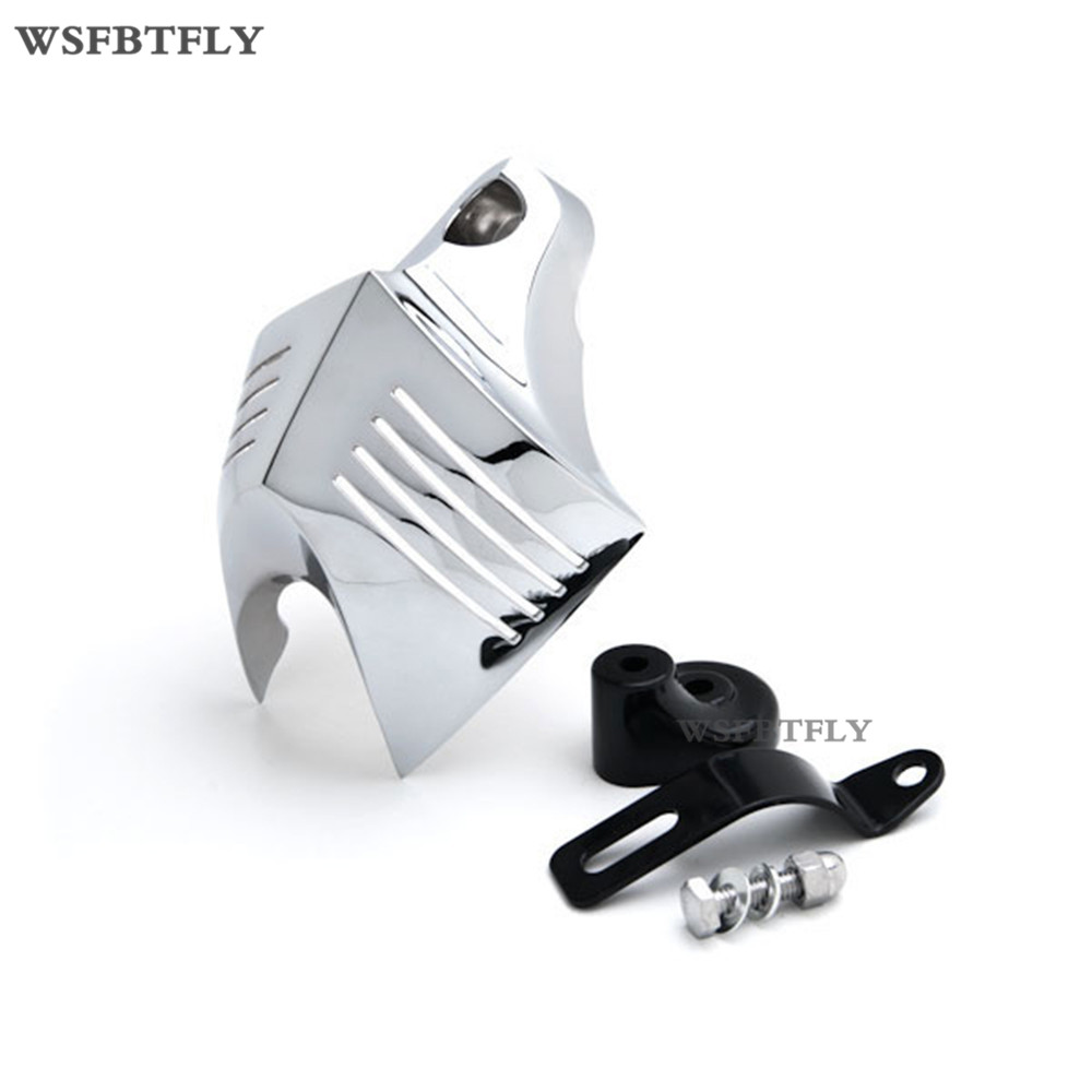 2 Colors Motorcycle Horn Cover For  Harley Softail Dyna Glide Big Twin Electra 1992-2012 01 02 03 04 05 06 07 08 09 10 11 chrome motorcycle v shield horn cover set case for harley big twins evo 1992 2012 twin cam 1988 gg