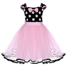Cute Baby Kids Girls Minnie Dress Birthday Cake Smash Polka Dot Tutu Dress Mickey Mouse Cosplay Party Kids Dresses for Girls posh dream mickey cartoon kids girl dress for cosplay pink and hot pink dot minnie girl tutu dresses flower girl cosplay dress
