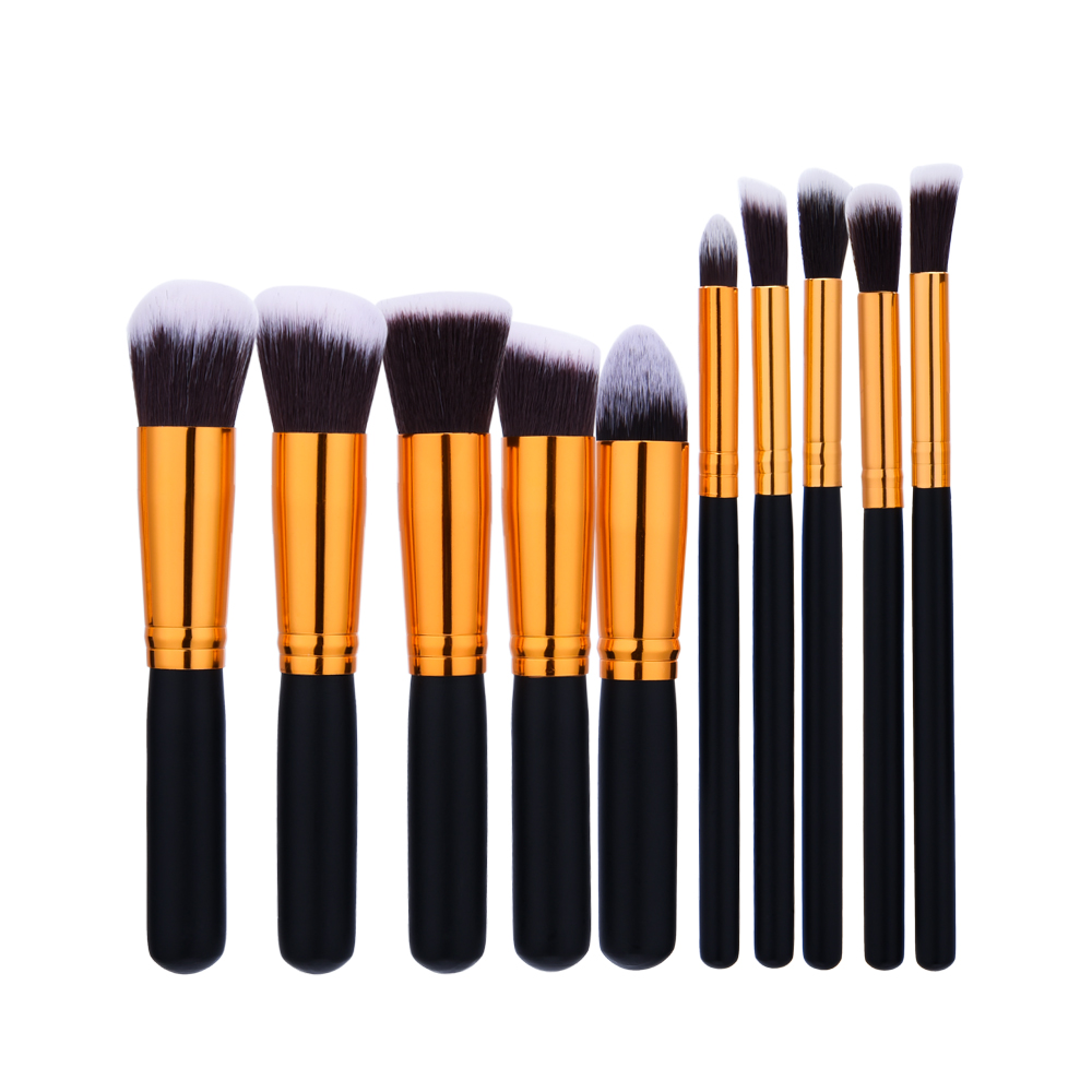 Makeup Brushes Set 10pcs Professional Powder Foundation Brush blush brush Eyeshadow Cosmetic Make Up Brushes Tools Kit For Women new lcbox professional 16 pcs makeup brush set kit pouch bag cosmetic brush kit cosmetic powder foundation eyeshadow brush tools