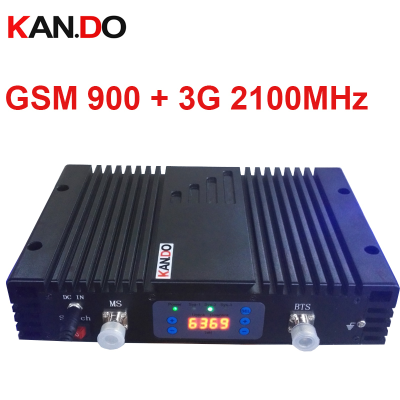 70dbi GSM+3G DUAL Band Repeater AGC/MGC 900MHZ+3G 2100MHz Signal Booster GSM Repeater 3G WCDMA BOOSTER HIGH Quality