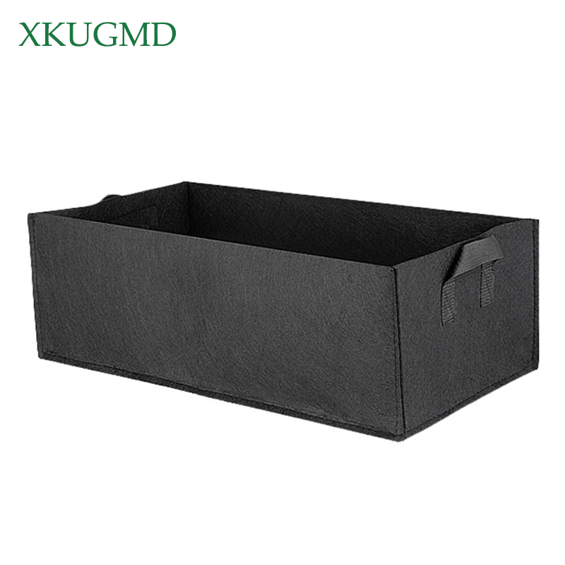 Square Strawberry Planting Bag Root Control Bag Gallon Plant Flower Nursery Bag Vegetable Greenhouse Planter Garden Orchard Tool