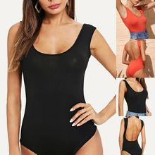 Women Bodysuit Ladies Backless Sleeveless Leotard Stretch Bodysuit Short Romper Jumpsuit Party Beach Club Overalls цена