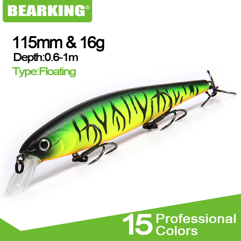 Bearking 11.5cm 16g Hot Professional Quality Fishing Lure,wobblers Minnow Crank Crank Bait Excellent Painting Free Shipping