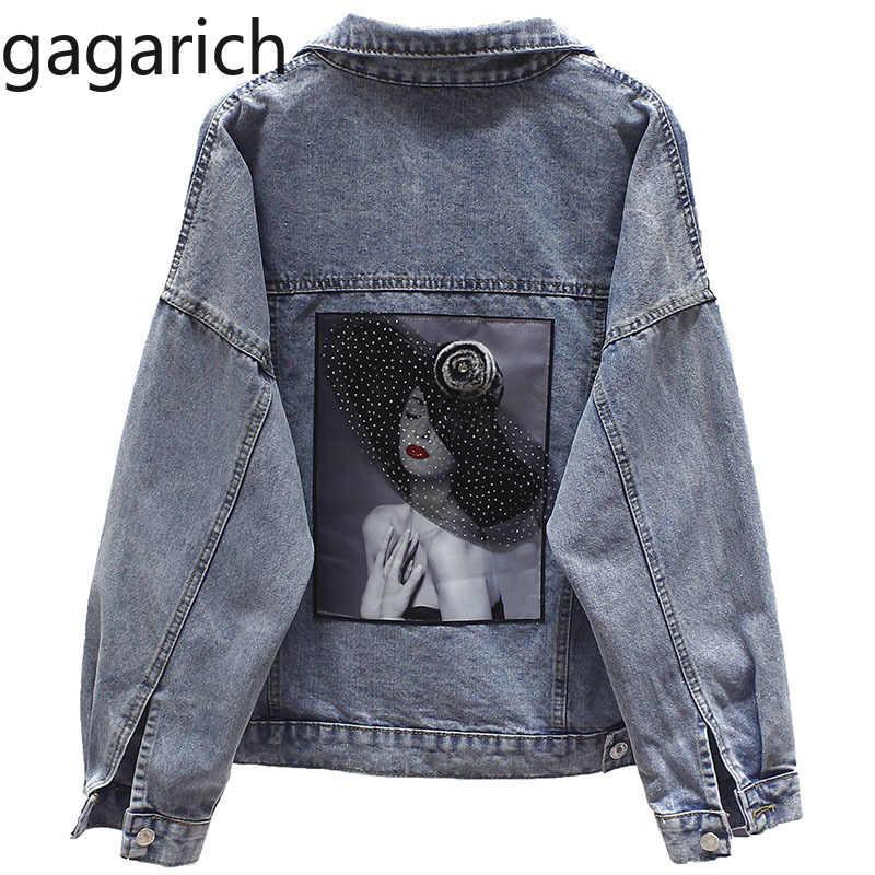 Gagarich плюс размер джинсовая куртка для женщин Свободные повседневные пальто женские джинсовые куртки для девочек Femme Veste уличная Chaqueta Mujer