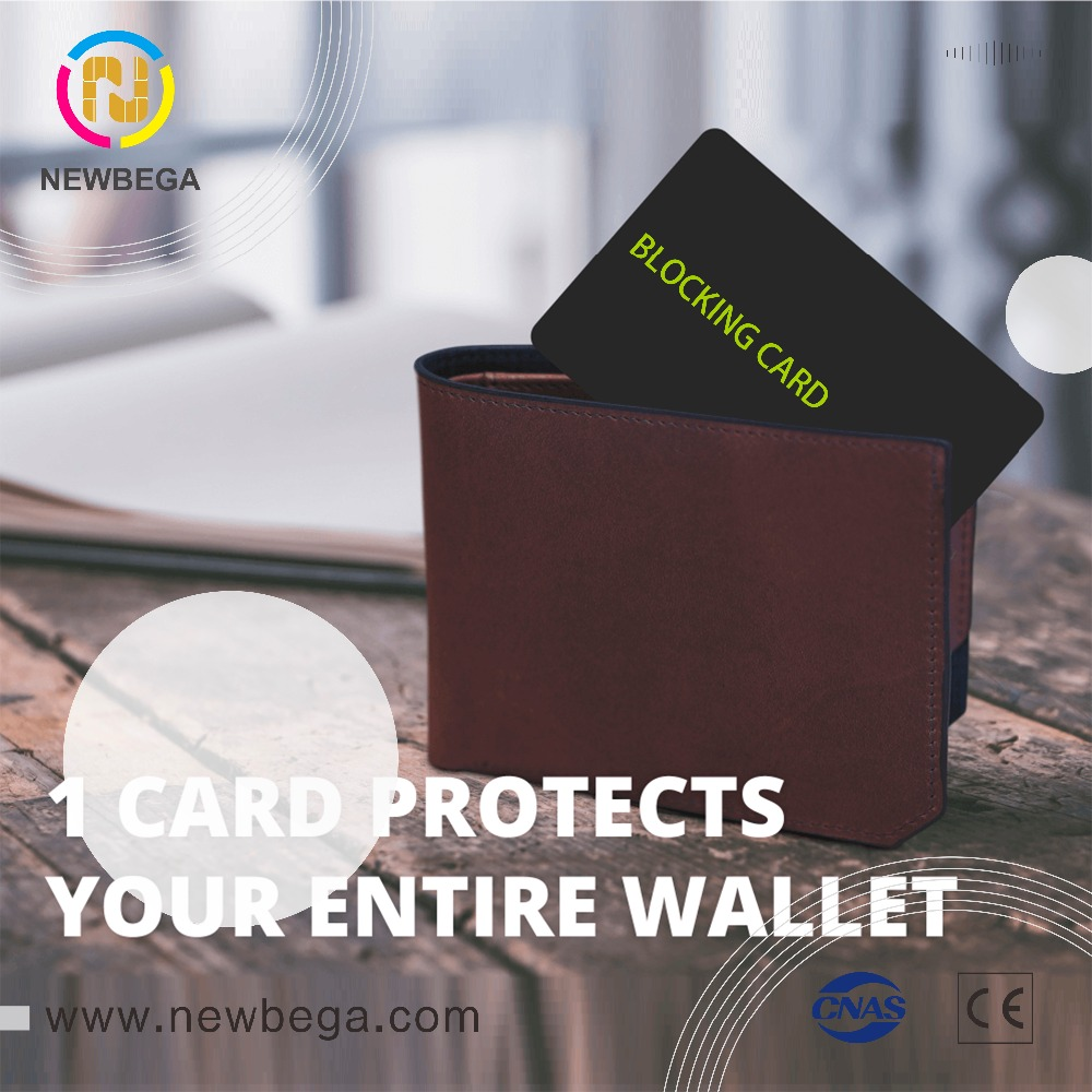 Blocker Card Protection Secure For Passport Purse Credit Card Shield RFID NFC Signals To Disable The CardReader Anti-theft Brush