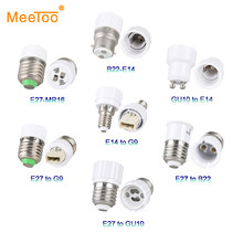 E14 E12 E27 Lamp Base Accessories GU10 G9 B22 MR16 Bulb Light Socket Adapter Household Converter Fittings Lamp Holder Fixture(China)