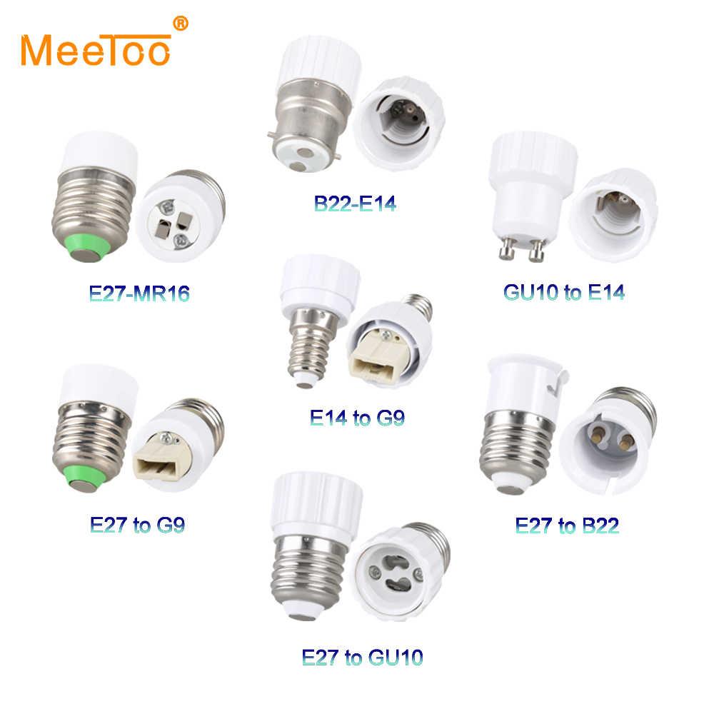 E14 E12 E27 Lamp Base Accessories GU10 G9 B22 MR16 Bulb Light Socket Adapter Household Converter Fittings Lamp Holder Fixture