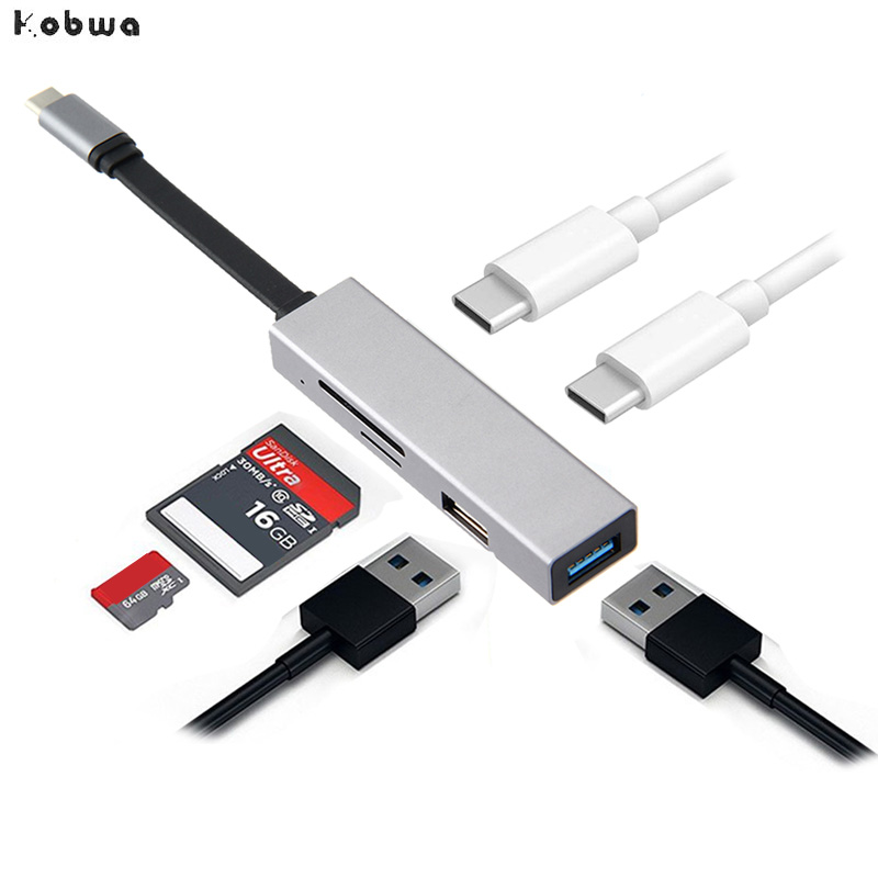 USB C HUB USB-C to 3.0 To Type Adapter for MacBook Samsung Galaxy S9/S8 Huawei P20 Pro