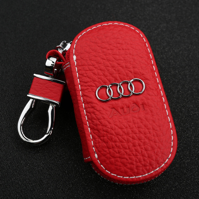 Car Key Leather Cover Case For Audi
