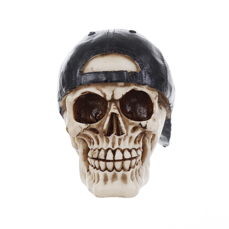 New Model Craftmanship Resin Skull Halloween Gift Personality Ornaments  Home Accessories Popular Skull With Black Hat In Figurines U0026 Miniatures  From Home ...