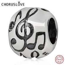 Choruslove Music Note Charms 925 Sterling Silver I Love Piano Beads fit Pandora Original Women Bracelet SS2948