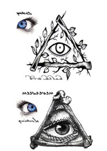 Body Art Beauty Makeup Pink Sexy Triangle Eyes Tattoo 34D Waterproof Temporary Tattoo Stickers Sexy
