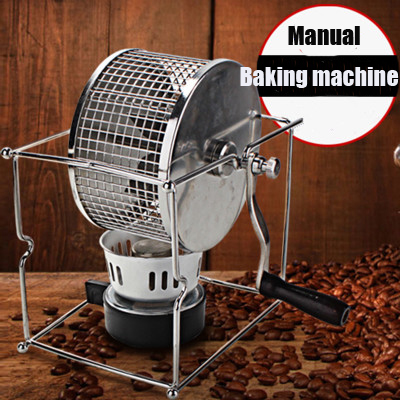 Handle coffee bean baked machine manual beans roasting roaster baking maker DIY small stainless steel rollers shipule discount new technology industrial baked corn machine baked sweet potato machine corn roasting machine for sale