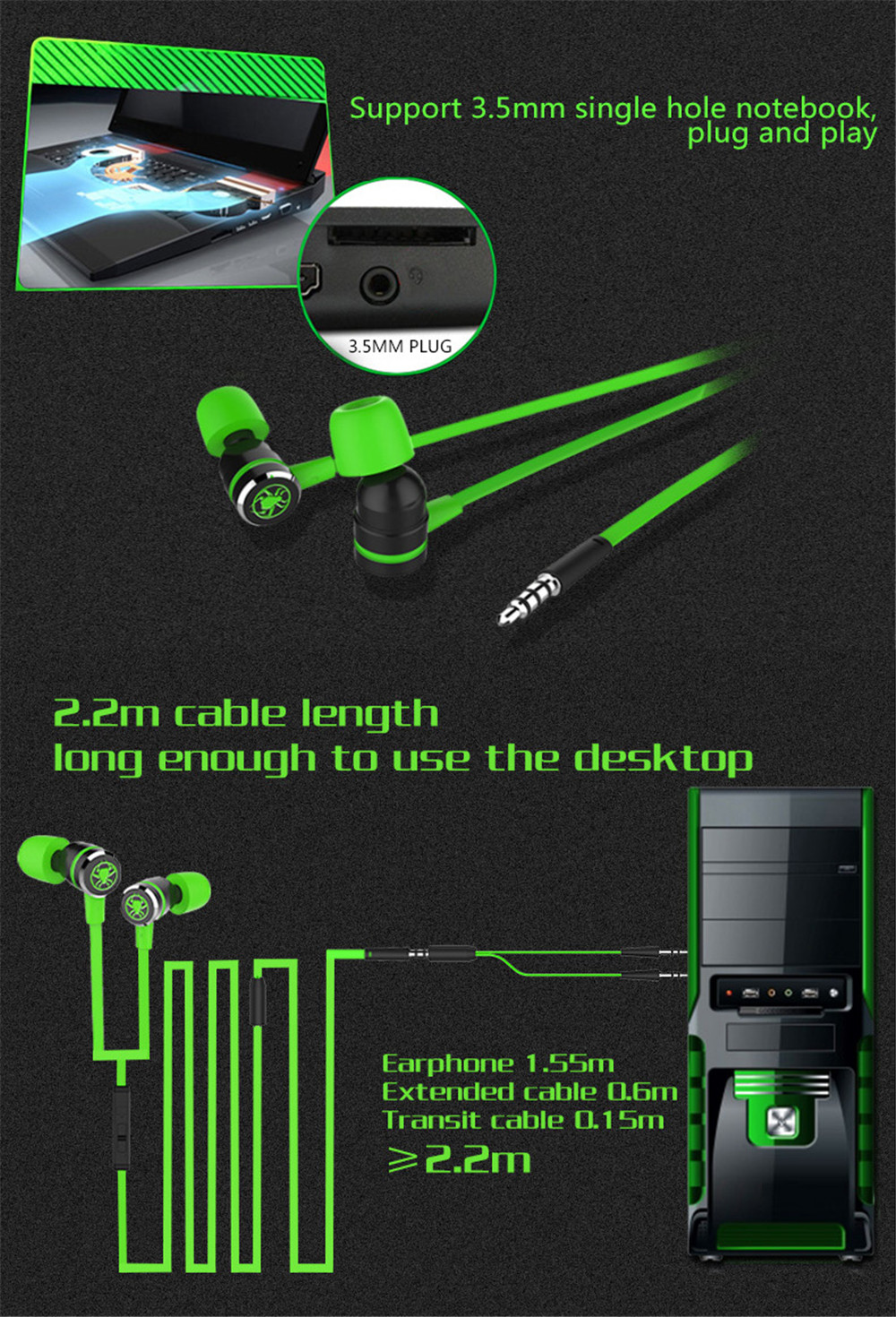 plextone g20 in ear earphone with microphone wired magnetic gaming headset stereo bass earbuds computer  [ 1000 x 1470 Pixel ]
