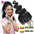 Cheap Frontal Lace Closure 4x4 Body Wave Lace Closure Piece 8A Malaysian Virgin Hair 3 Part Closure With Baby Hair Lace Closure
