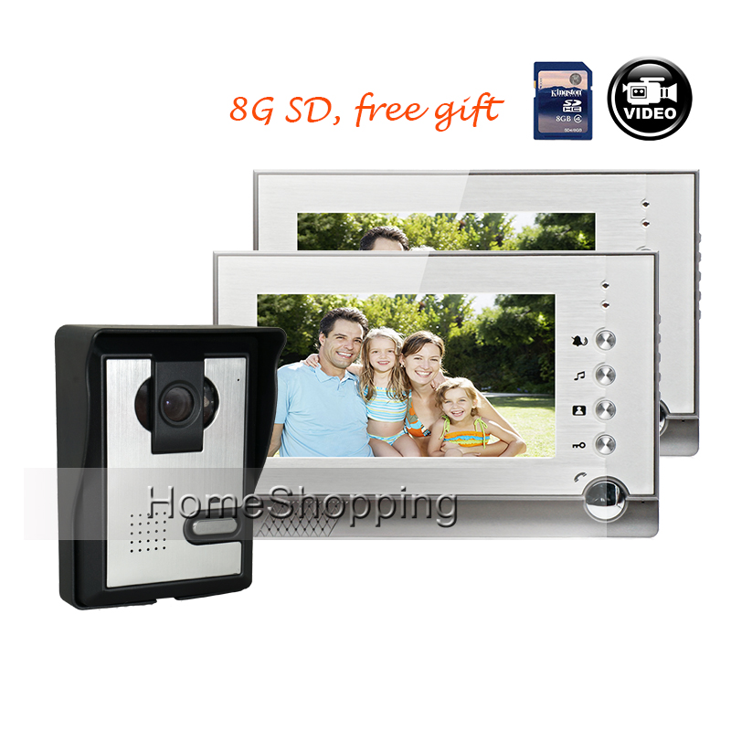 FREE SHIPPING NEW 7 Color Recording Video Intercom font b Door b font Phone System 2