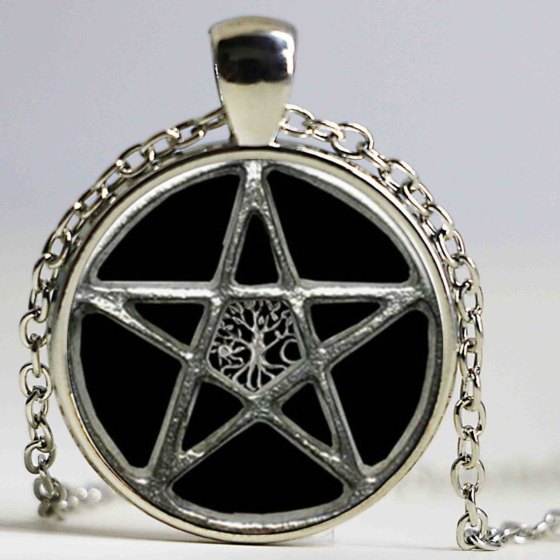 Freeshipping Vintage Tree of Life Necklaces & Pendants Pentagram Collares Mujer My Orders Fashion Jewelry