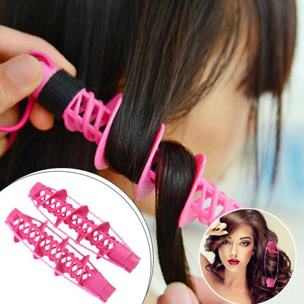 BellyLady 2pcs/set Hair Rollers Magic Spiral Curling DIY Hairdressing Styling Curls Roller