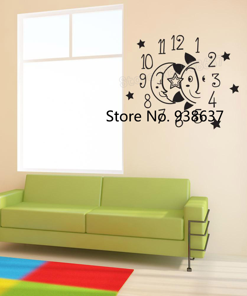 Creative Kids Room Wall Decor Vinyl Wall Decal Sticker Moon and Sun ...