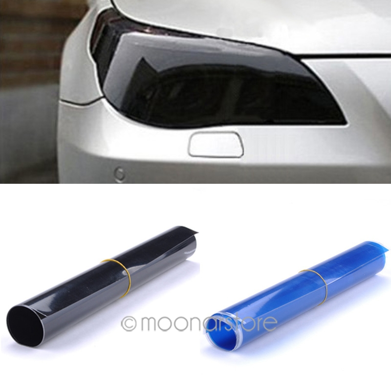 20cm X60cm Auto Car Light Headlight Taillight Tint Vinyl Film Sticker Hot Sales Easy To Stick The Whole Car