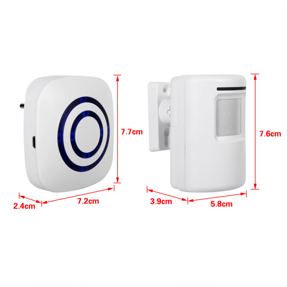 wireless of size alerts entry no app doors alarm powered system battery sensor chime alert full window with entrance door siren